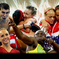 I like how this picture is of all Americans and then there's Usain Bolt in the front and center. As it should be