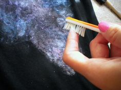 DIY Galaxy Print Tee Shirt: THIS IS BY FAR THE BEST PLACE TO GO WITH SIMPLE INSTRUCTIONS AND A GREAT RESULT!