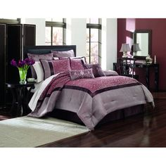 @Overstock - The Manor Hill Sutton Eight-piece Bed in a Bag set features beautiful jacquard faux silk bedding with embroidery. Comforter, shams, a bedskirt and a cotton sheet set are included.http://www.overstock.com/Bedding-Bath/Manor-Hill-Sutton-8-piece-Bed-in-a-Bag-with-Sheet-Set/7650357/product.html?CID=214117 $249.99