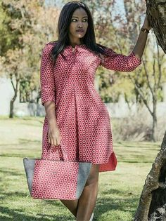 african print dresses Dress and bag to match, Ankara dress, African print dress, women dress, knee length dress Latest African Fashion Dresses, African Print Dresses, African Dresses For Women, African Print Fashion, African Wear, African Attire, Dress Fashion, Ankara Fashion, African Prints