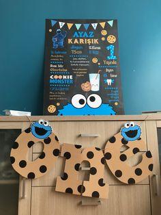 kurabiye canavarı temalı parti,kurabiye canavarı temalı banner, kurabiye canavarı bir yaş partisi,kurabiye canavarı one yazılı banner,designbyceline kurabiye canavarı konsepti
