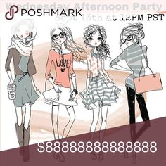 Party Time 🎉🎉 Wednesday, Sept 13th at Noon PST Super excited to be hosting my 6th amazing Posh Party!!  Wednesday afternoon...perfect timing for a break from the work week.  See you all there 🎉🎉🎉 Party Accessories