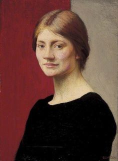 A Girl in Black (1913) by Sir George Clausen