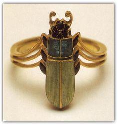 Gold, Enamel Beetle Ring. (n.d.). René Lalique  (?)