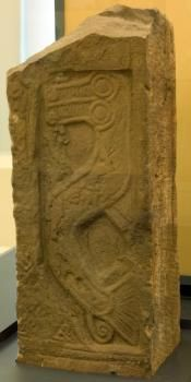 Fragment of Pictish Cross-Slab from Tealing. A kelpie? Ancient Ruins, Ancient Art, Celtic Images, World Religions, Celtic Art, Picts, Prehistory, Celtic Designs, Ancient Civilizations