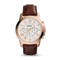 Fossil Grant Chronograph Leather Watch - Brown| FOSSIL® Watches