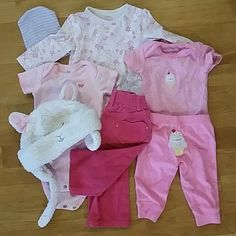 FIRM 5 Piece Bundle--Range from 3M-18M There's a newborn cap included, and the other lamb cap ranges from 12M-18M A Pea in the Pod Other