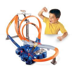Hot Wheels Triple Track Twister Track Set Tracks are built for speed and gravity-defying stunts