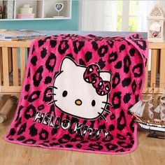 Anime Cartoon Blanket Hello Kitty Warm Flannel Plush Bedroom Bedding Hot Gift | eBay