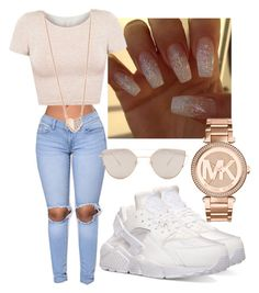 """Untitled #12"" by euphoricish on Polyvore featuring NIKE, American Apparel, Ariel Gordon, Gentle Monster and Michael Kors"