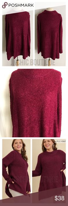 """Chunky knit sweater Semi chunky knit sweater. 60% cotton/ 30% polyester. Feels like you're wearing a cloud! These are extremely soft and stretchy. Slightly oversized XL: L 34"""" B 44"""" ⭐️This item is brand new without tags Price is firm unless bundled ✅Bundle offers Availability: XL• 1 Sweaters"""