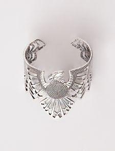 Phoenix silver cuff