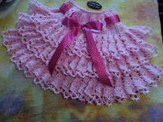 saia dupla rosa...Crochetsruth