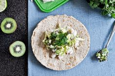 grilled tilapia with coconut kiwi salsa