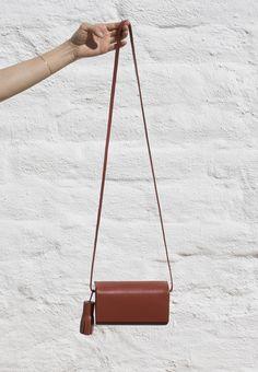 Petite side bag in brick by Building Block