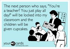 The same rule applies to the next guy who tells me I have it easy, because I have months of vacation... #daycarehumor