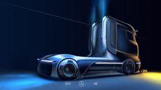 New Mercedes-Benz GenH2 Fuel-Cell Semi Concept Previews Production Model Coming Soon | Carscoops Mercedes Benz Trucks, New Mercedes, Volvo Trucks, New Trucks, Electric Truck, Hydrogen Fuel, Truck Design, Commercial Vehicle, Automotive Design