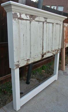 wood door headboard ideas - Google Search