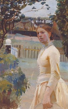 Michael Peter Ancher (1849-1927): Portrait of Anna Ancher