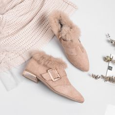 Winter Cotton Women's Shoes Rabbit Plush Thickened Suede Ankle Boots ankle boots,womens boots,fur,Winter,Womens shoes,boots,Leather,Booties,Ankle,Women's Fashion,Shorts,Snow Boots,winter shoes,casualboot,Fashion,Outdoor Shoes,Shoes,Leather Shoes,Suit,Khahi,Winklepickers,Cotton,pointed Suede Ankle Boots, Leather Booties, Shoe Boots, Leather Shoes, Winter Shoes For Women, Winter Outfits Women, Shoes Sneakers, Shoes Heels, Short Women Fashion