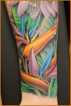 Birds Of Paradise Plant Tattoo