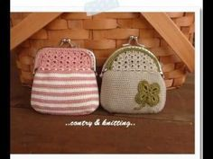 crochet purse **no instructions, but I love the look of them. A little bit of beading and I've a new change purse for Micah. Crochet Change Purse, Crochet Coin Purse, Crochet Purses, Love Crochet, Crochet Yarn, Crochet Stitches, Knooking, Diy Bags Purses, Coin Purses