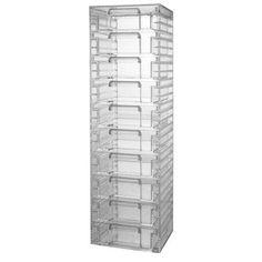 Clear Organizer Tower with 10 Removable Drawers US Acrylic, LLC,http://www.amazon.com/dp/B000KG066C/ref=cm_sw_r_pi_dp_cm5etb1R7E9FYCHV
