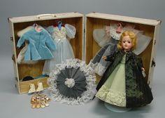 """14"""" HP Mary Hoyer Doll/Trunk/Wardrobe"""