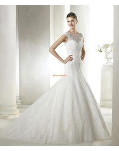 Sans manches Appliques Zip Robes de mariée 2015