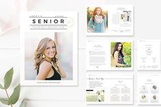 Senior Photography Magazine Template - High School Graduation - Photo Marketing Templates - Pricing Guides