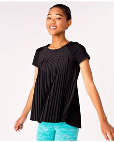 Pleated body for added airflow to help regulate your temperature during gym class or practice on the field.   Pleat The Game Short Sleeve Tee