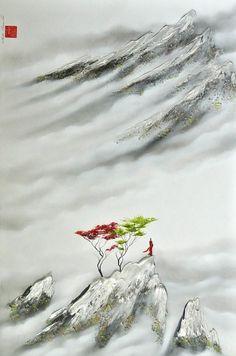 La douceur sereine d'une inébranlable paix Martin Beaupré artiste peintre   