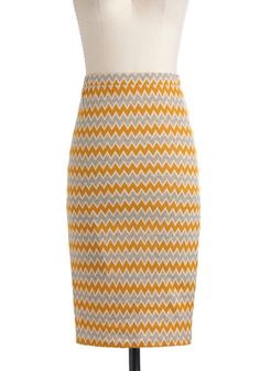 Colored Pencil Sketch Skirt, #ModCloth
