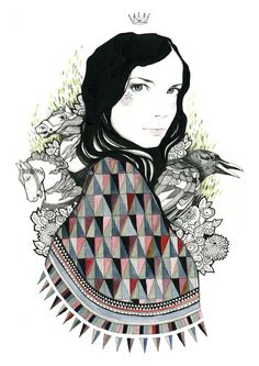 Sarah - Print by Catherine Campbell. This makes me think of @sarahannm :)