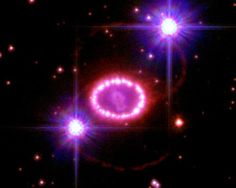 Supernova 1987A  guts of an exploded star