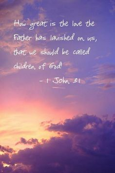 We are His children!