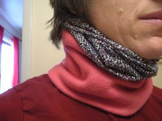 How to Make a Stylish Neck Gaiter : 16 Steps (with Pictures) - Instructables Snood Pattern, Bib Pattern, Neck Coolers, Sewing Tutorials, Sewing Projects, Sewing Ideas, Sewing Crafts, Sewing Patterns, Serger Projects