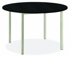 Our Portica round dining table features a clean modern look and a stainless steel base. Choose from a variety of top options to make Portica your own. Granite Dining Table, Dining Table Design, Modern Dining Table, Dining Table Chairs, Round Dining Table, Round Tables, Beach House Kitchens, Granite Tops, Modern Light Fixtures