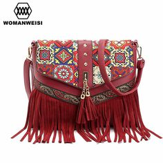 Cheap leather handbags, Buy Quality bag tassel directly from China women  crossbody Suppliers  2017 new women messenger bags tassel bag National shoulder  bag ... f3a08cad92