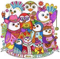 Owl From Dapper Animals Coloring Book By Thaneeya McArdle