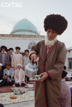 Pouring Tea. Turkmenistan - Tea Around the World.
