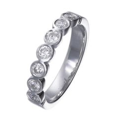 Rubover set half eternity ring. Please contact bespoke@makermends.com if you would like a quote for this ring