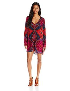 Listed Price: $54.95 Sale Price: $38.47 Woven allover printed button down long sleeve swing dress.... Read more...