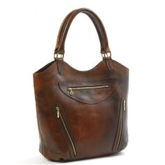 Paris Leather Tote (Brown)