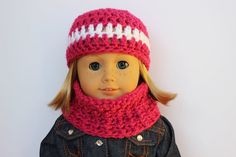 Doll Hat And Cowl Doll Clothing Doll by CreativeDollCrafts on Etsy