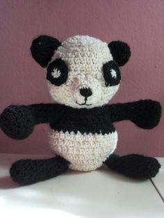Dolcissimo Panda amigurumi, uno dei primi lavori!! Creato all'uncinetto