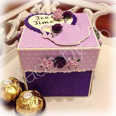 Tea Time Explosion box. Digital file.