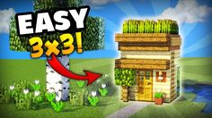 Minecraft: how to make the smallest house you can make in survival! great for your first day - minecraft servers view Minecraft Starter House, Minecraft Small House, Minecraft Houses Survival, Minecraft House Tutorials, Minecraft Houses Blueprints, Minecraft House Designs, Minecraft Tutorial, Minecraft Creations, Minecraft Crafts