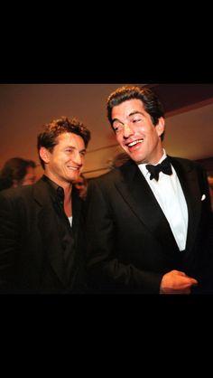JFK Jr. with Sean Penn at White House Correspondents Dinner. 1999