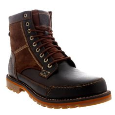 """Timberland Larchmont 6"""" Mid Top Leather Lace Up Ankle Chukka Boots"""